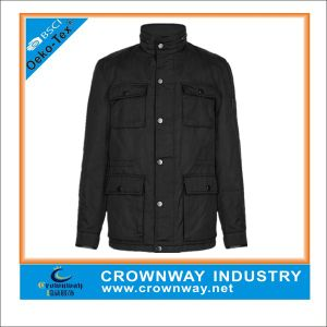 Plus Size Quilted Black Winter Casual Jacket for Men pictures & photos