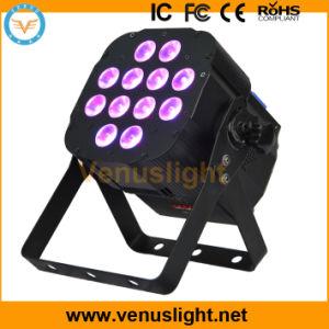 12 PCS 6in1 LED Flat PAR Stage Light