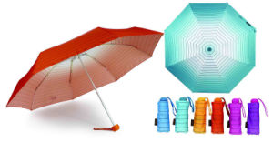 Stripe Rainbow Windproof Compact Umbrellas (YS-3FA22083961R) pictures & photos