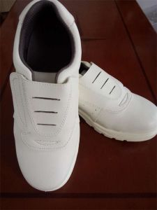 White Anti-Skid Anti-Chemical Safety Shoes