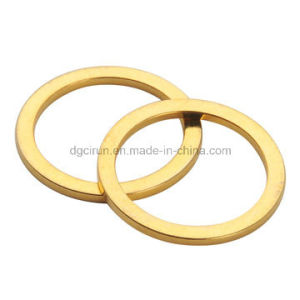 Custom Size Gold Plating Neodymium Ring Magnets