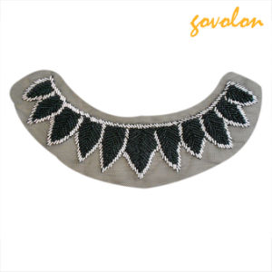 Grey Embroidered Collar with Beads pictures & photos