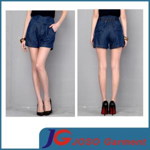 High Waisted Women Jean Cotton Shorts (JC6104) pictures & photos