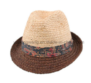 Customized Fashion Men Straw Hat, Summer Sports Baseball Cap pictures & photos