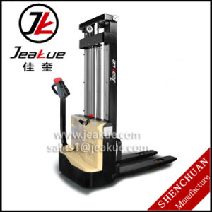 High Quality 1.2t Walkie Full Electric Stacker Price pictures & photos