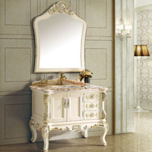 Solid Wood Bathroom Vanity Cabinet (13003) pictures & photos