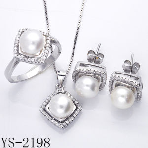 Imitation Jewelry 925 Silver Pear Jewelry Set for Young Ladies. pictures & photos