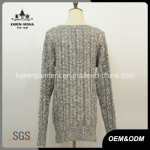 Ladies Cable Knit Zipper Sweater Wholesale Clothing pictures & photos