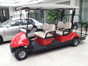 Solar Energy 4 Seats Electric Golf Cart with Caddy Plate pictures & photos