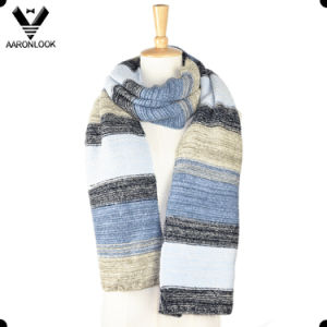 2016 Must Have Trendy Colorful Stripe Stretch Knitted Scarf pictures & photos