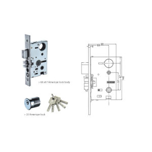 Stainless Steel 304 Handle Lock with American Lock (H-8705) pictures & photos