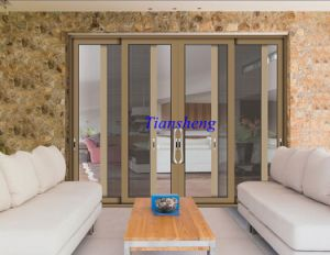Aluminum Commercial Heavy Duty Large Triple Glass Sliding Entrance Door pictures & photos