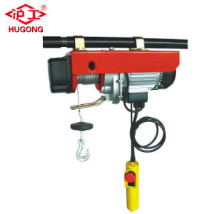 Wireless Remote Mini Electric Wire Rope Hoist Elevator Machine pictures & photos