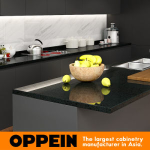 Wholesale Modern Stylish Black Matte Lacquer Wooden Kitchen Cabinet (OP16-L14) pictures & photos