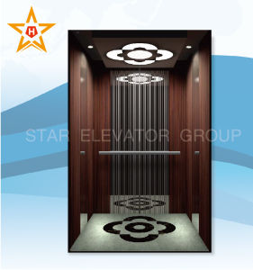 Mrl Passenger Elevator with PVC Laminating Steel Plate