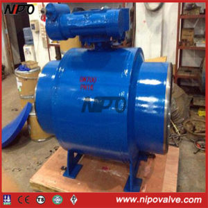 Fully Welded Trunnion Ball Valve with Gear Operation pictures & photos