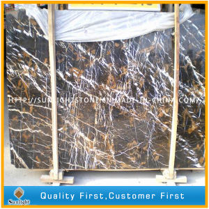 Black and Gold Marble, Portoro Marble Slabs for Tiles, Countertops pictures & photos