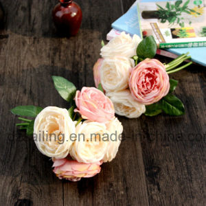 5 Heads Royal Wedding Rose Bouquet Artificial Flower for Decoration (SF13941/5) pictures & photos