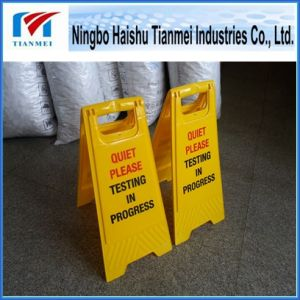 Customized Printing Text Floor Sign, Plastic Notice Sign, Warning Sign pictures & photos