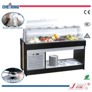 2-Hoods Commercial Restaurant Salad Bar Refrigerator Freezer (M-P1500ZL4) pictures & photos