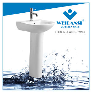 Weidansi Ceramic Wash Sink Pedestal Wash Basin (WDS-P7205) pictures & photos