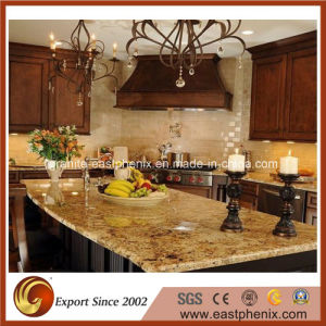Natural Polished Quartz/Marble/Granite Yellow Stone Countertop for Kitchen/Bathroom Top pictures & photos