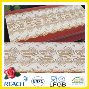 Cheap Wholesale 50cm Width Crochet PVC Long Lace Tablecloth (JFBD013) pictures & photos