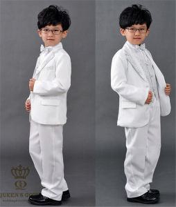 Boys Suits for Attire Formal Wedding Children Flower Boy Suit pictures & photos