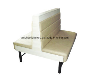 Beige Duble Sofa Two-Seater Restaurant Chair, Coffee Shop pictures & photos