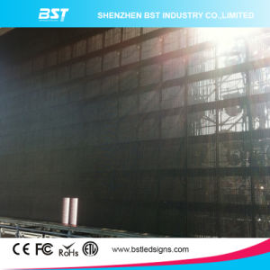 Super Slim P10mm Indoor Full Color Transparent LED Mesh/Curtain Display Screen pictures & photos