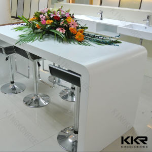 Custom Solid Surface Bar Counter Table, Artificial Stone Long Bench Table pictures & photos