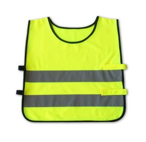 Flu Yellow Kids Safety Vest with En1150 Certificate (DFVUU203) pictures & photos