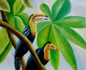 Oil Painting on Canvas Bird Decorative Wall Picture (LH-370000) pictures & photos