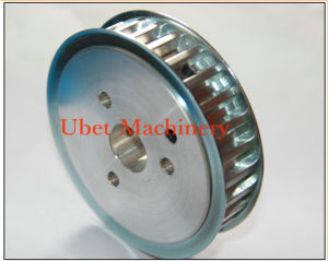 Zinc Plated Custom Timing Belt Pulley with Bolt Holes pictures & photos