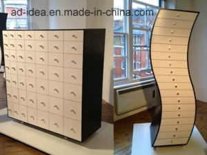 Rotatable Creative Wooden Furniture/ Practical Wooden Display with Caster pictures & photos