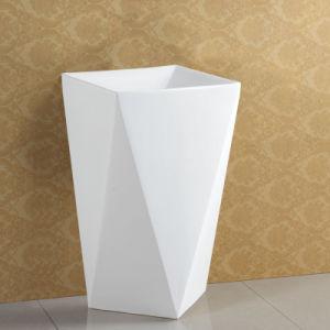 Standard Size Free Staning White Ceramics Basin