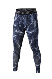 Men′s Fashion Printing Reflective Compression Fitness Sports Wear / Gym Wear pictures & photos