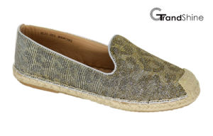 Women′s Espadrilles Glitter Casual Flat Shoes pictures & photos