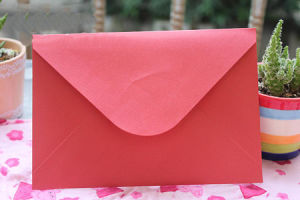 High Quality Custom Made Colorful Craft Paper Wedding Envelope pictures & photos
