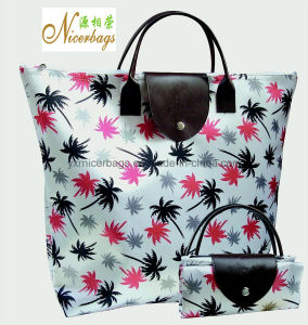 2016 Hot Selling Folding Polyester Tote Bag with Printing pictures & photos