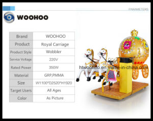Coin Operated Machine Indoor Playground Rpyal Carriage Wobbler Swing Machine pictures & photos