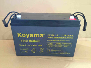 12V 100ah Lead Acid AGM Stationary Battery for Telecom, Solar & Backup System pictures & photos