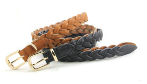 Hot Sales and High Quality Weave Leather Belt Ky6143 pictures & photos