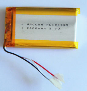 Hot Sale 3.7V 2600mAh 104065 Lithium Polymer Battery pictures & photos