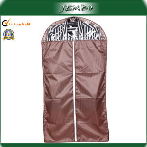 Household Customized Waterproof Polyester Suit Bags with Clear Window pictures & photos