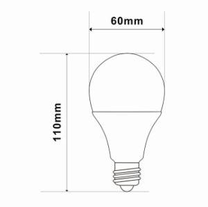 6000k A60 7W E27/E14 LED Light with CE RoHS pictures & photos