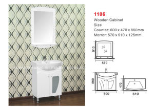 Bathroom Cabinet (No. 1106) Assembly Cabinet, Ceramic Counter Basin pictures & photos