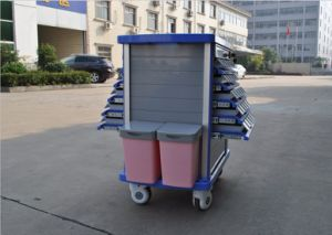 Medicine Double Side ABS Drug Medical Trolley Cart (AG-MT011A1) pictures & photos