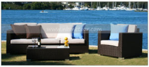 Mtc-135 Rattan Garden Patio Furniture Triple Sofa Set Outdoor Use pictures & photos