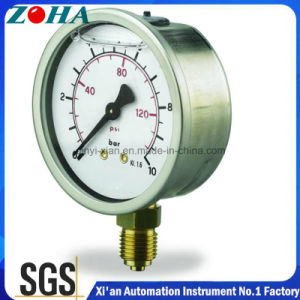 Half Stainless Steel Oil Filled Fuel Pressure Gauges pictures & photos